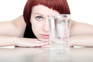 staring at glass of water